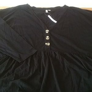 Asos Curve Black Tunic NWT